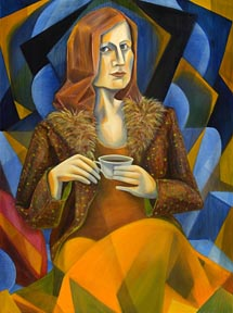 "Ms. Flage 30x40"" Oil on canvas"
