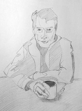 "Coffee 9 x 12"" Graphite on paper"
