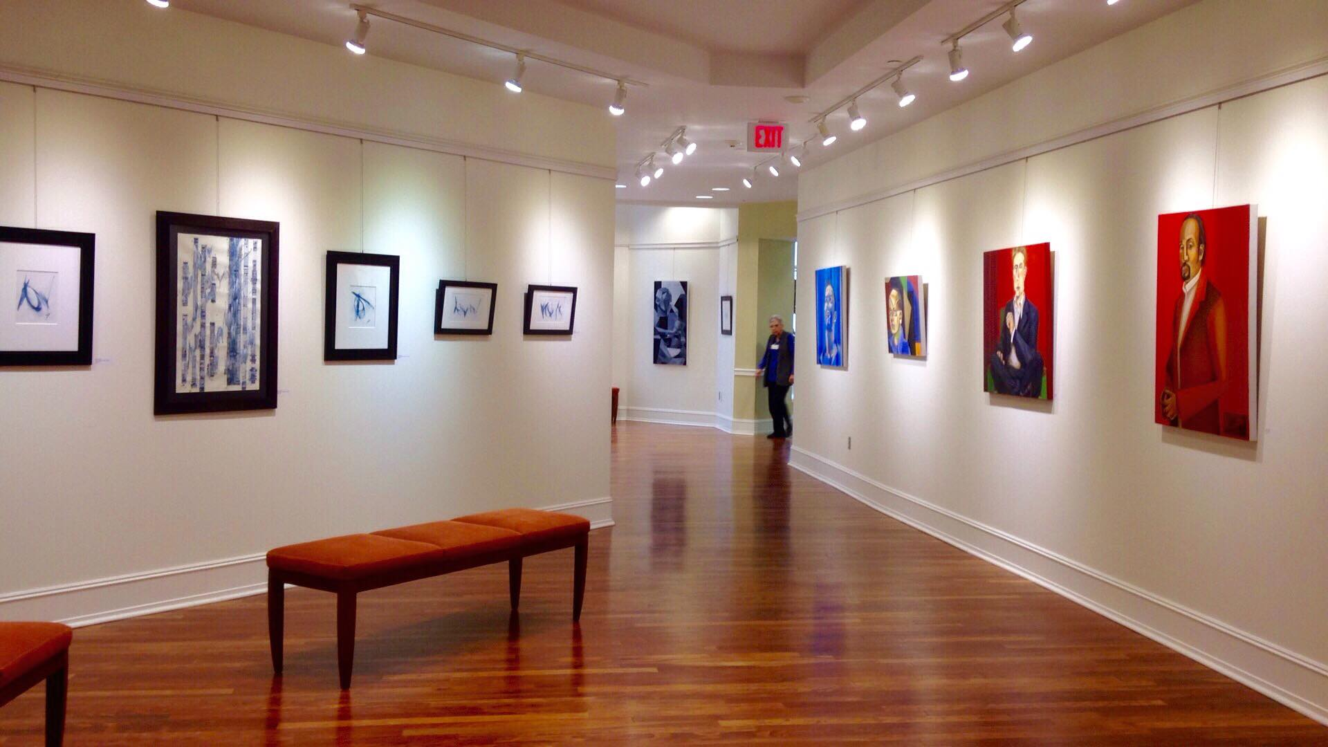 Britt's show at the Crossroad's Gallery at Goodwin House.  Photo by Britt Conley