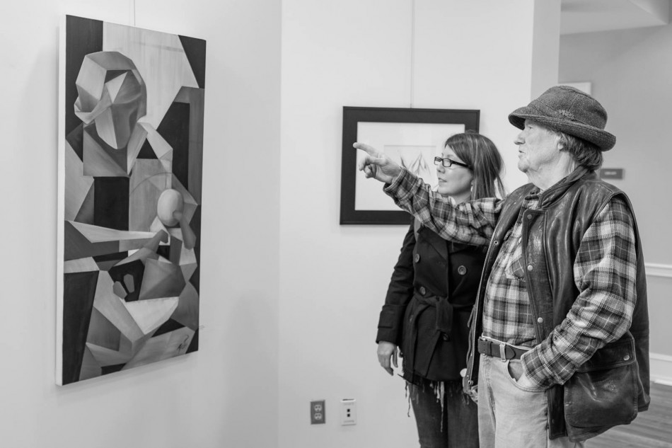 Britt Conley and Harald Malmgren at Britt's opening reception. Photo by Forrest MacCormack
