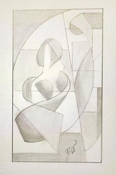 "Nature vs. Nurture 5 x 8.5"" Graphite on paper"