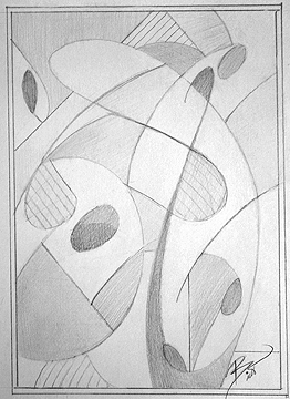 The Dance of Rain on Grass 10.25 x 7.25 Graphite on Paper