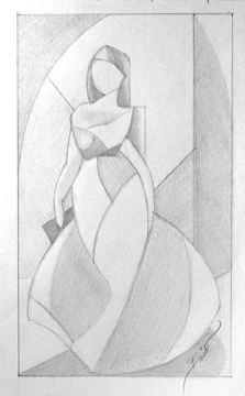 A Night at the Gala 5 x 8.5 Graphite x paper