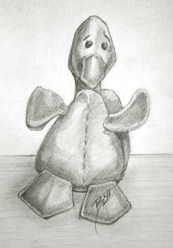 "The Duck 6 x 8"" Graphite on paper"