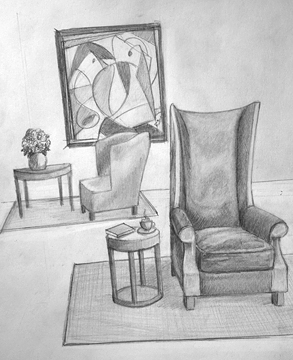 A Good Chair... Graphite on paper