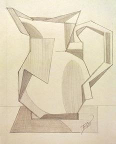 Pitcher 5.5 x 8 Graphite on paper