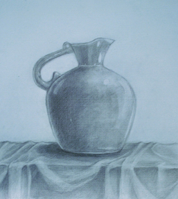 Vase 9 x 10 Graphite on toned paper