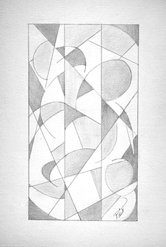 "Options 6 x 9.5"" Graphite on paper"