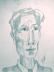 Portrait sketch 7 x 8 Graphite on paper