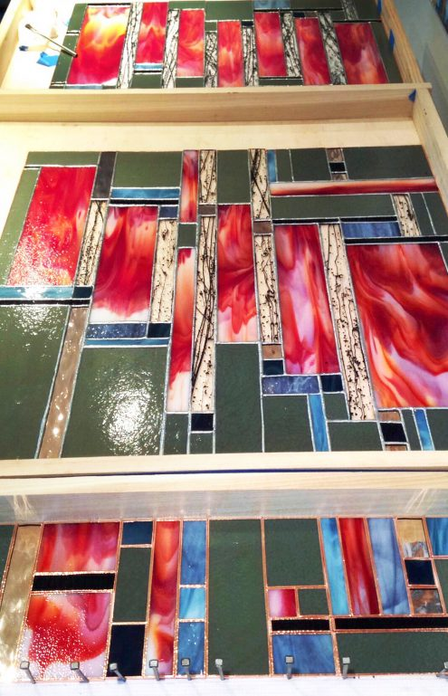 The upside down view of the Stravinsky: Firebird Suite Triptych by Britt Conley